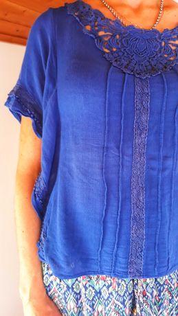 Blusa Natura azul
