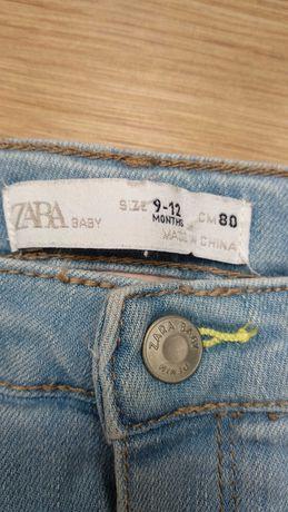 Jeansy Zara rozmiar 80 dla dziewczynki