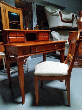 Stylowe włoskie biurko sekretarzyk + krzesło komplet Selva