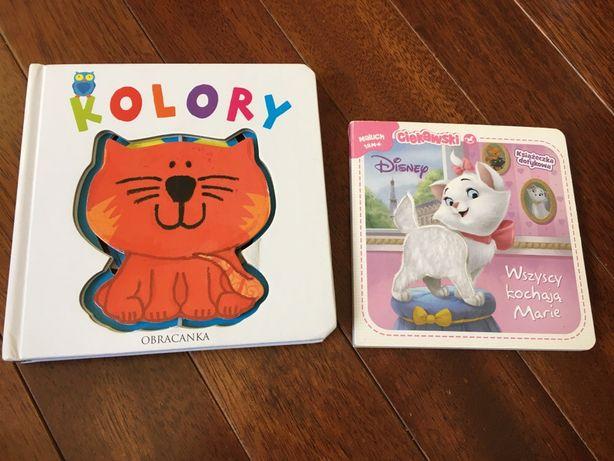 Książeczki: obracanka kolory, dotykowa Disnay