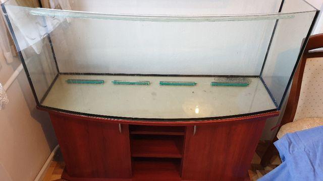 Akwarium profilowane 220L + szafka