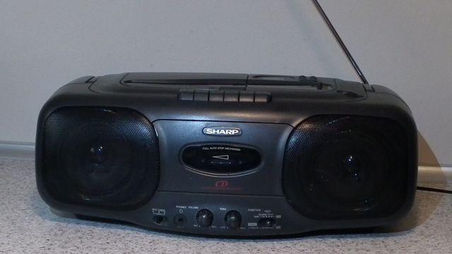 Sharp radio magnetofon CD