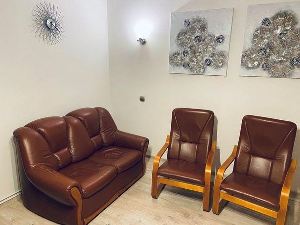 Rozkładana sofa + dwa fotele - stan bardzo dobry