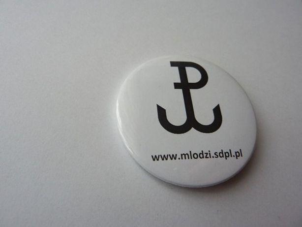 Przypinka-button: Polska Walcząca Powstanie Warszawskie