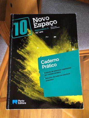 """""""Novo espaço 10°ano"""" Caderno de atividades matemática A"""
