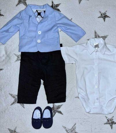 Ubranko do chrztu dla chłopca rozmiar 68/koszula 74