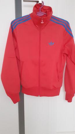 Bluza damska Adidas niebieskie logo suwak 36 S