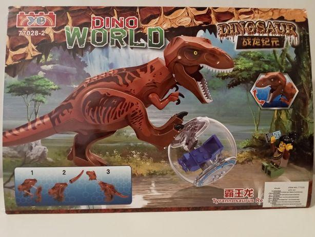 Dinozaur z figurką zestaw Dino World- Nowa