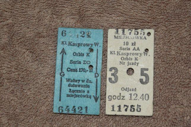 Stare bilety na KASPROWY WIERCH