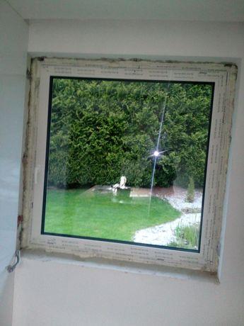 Okno trzyszybowe ,rozwierno- uchylne.