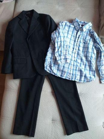 Костюм тройка рубашка пиджак брюки. Размер 6-7 лет