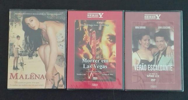 3 DVD's originais de filmes