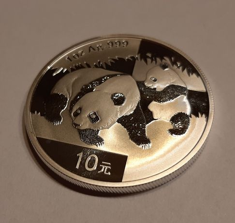 Moneta 10 Yuanów 2008 - Chiny - Panda