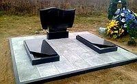 Установка бардюр плітки пам'ятників на кладбіщі