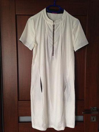 Sukienka happy mum, kolor kremowy i inna odzież ciążowa, wyprzedaż !