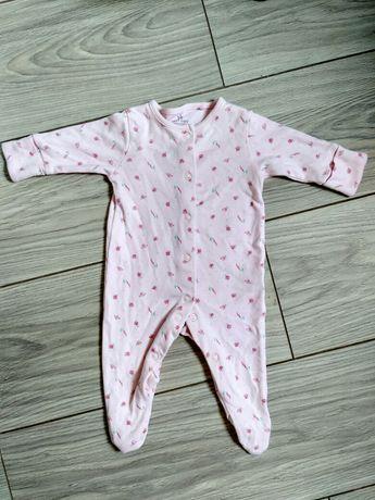 Человечек слип на девочку розовый 0-1,5 месяца