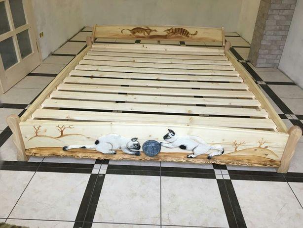 Ліжко  дерев'яне