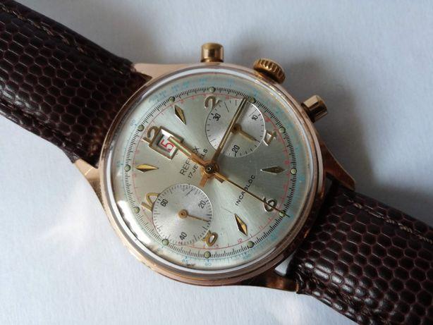 Złocony Chronograf REFLEX_Landeron_vintage50' BDB STAN