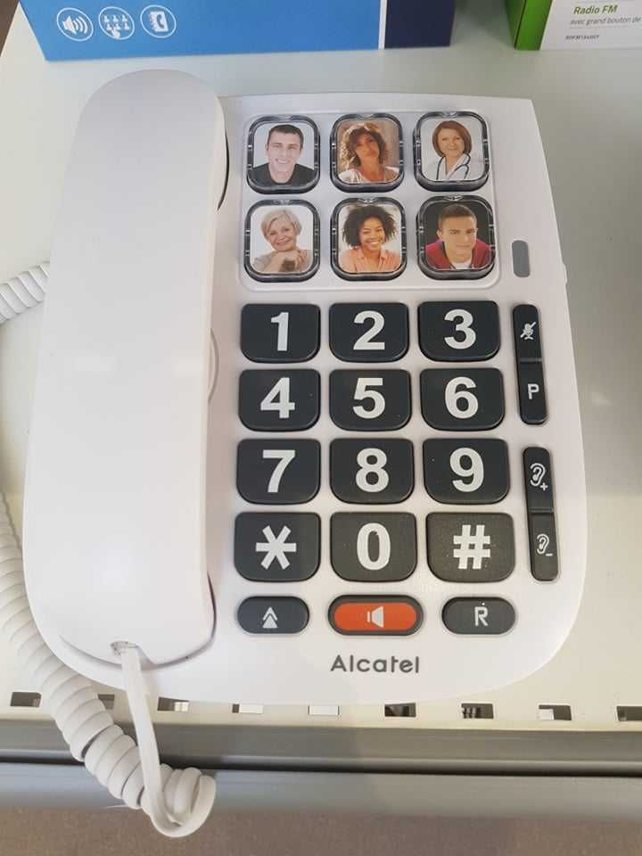 Telefone c/ Fios TMAX Teclas Grandes Alcatel