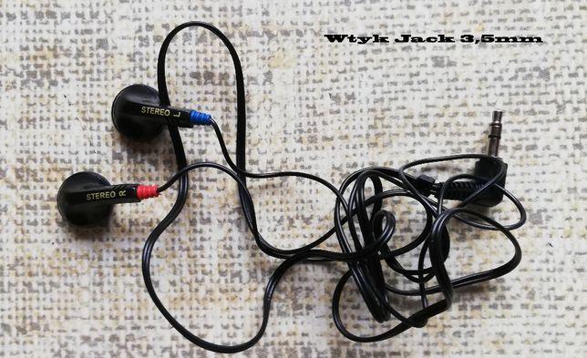 Słuchawki do sprzętu audio, tabletu, telefonu wtyk mini jack 3,5