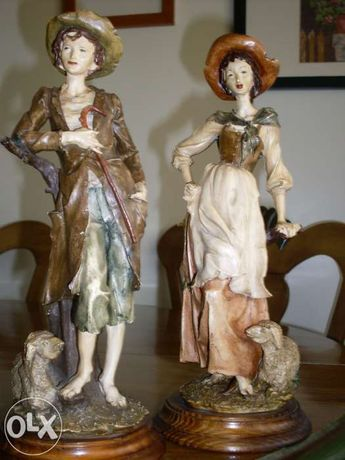 Casal Pastores em Cerâmica
