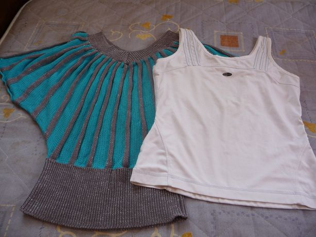 """Майка для фитнеса """"Adidas"""" + стильный свитерок """"OGGI"""" на весну"""