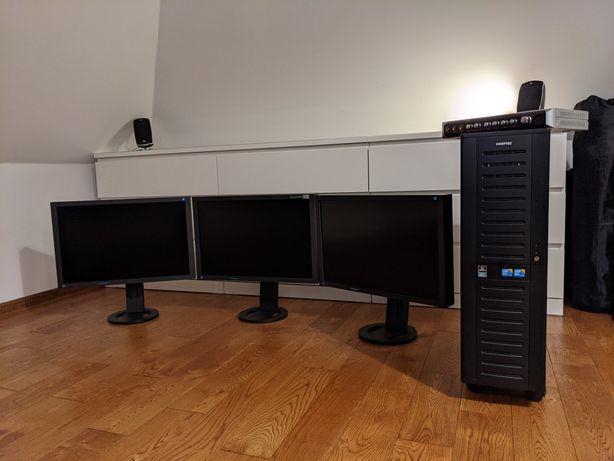 SALE! Stacja robocza XEON Titan GTX 64GB 7TB + 3 x EIZO