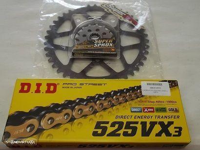 Kit Transmissao corr. VX3 X-ring Kawazaki KLZ 1000 Versys de 2012 a 2020