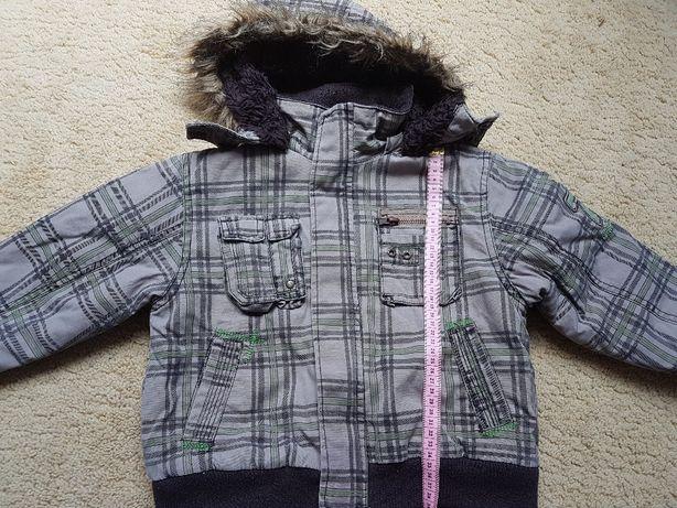 Kurteczka w kratkę dla chłopca na zimę rozm 110 cm - K1