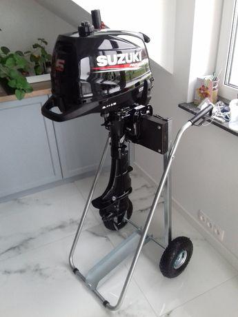 2018 SUZUKI 6KM Silnik zaburtowy 23,5kg wózek i linia paliwowa 12l