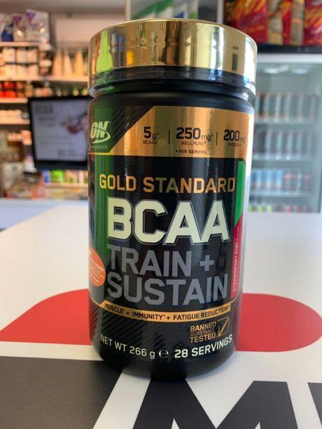 OPTIMUM NUTRITION BCAA Train + Sustain - 266g aminokwasy, regeneracja