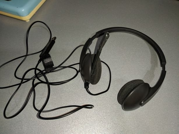 logitech H340, гарнітура, навушники, наушники USB