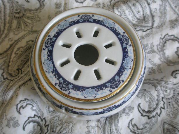 Podgrzewacz do herbaty/pod czajniczek, Made in China, pawie i kwiaty