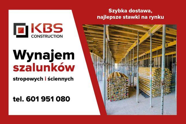 Wynajem szalunków budowlanych - stropowych i ściennych NAJTANIEJ