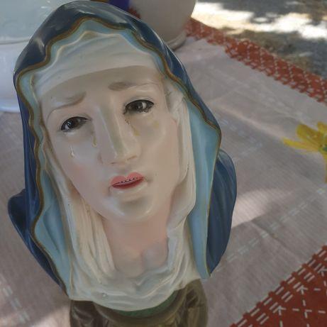 Vendo busto de Santa com olhos de vidro