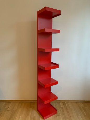 Czerwona ścienna półka IKEA