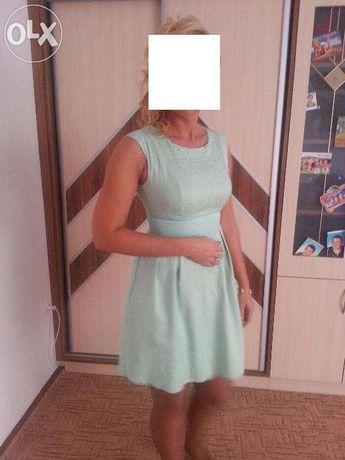 Śliczna miętowa sukienka rozm. 38