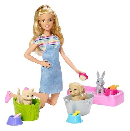 Кукла Барби уход за животными Barbie Play 'N' Wash Pets Doll & Playset