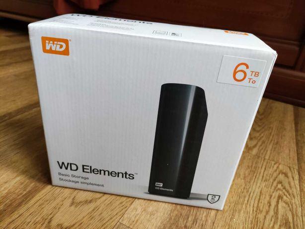 внешний жесткий диск WD Elements 6Tb