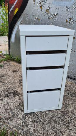 MICKE  IKEA Komoda na kółkach, biały35x75 cm