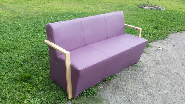 Sofa 3-osobowa ze skóry ekologicznej