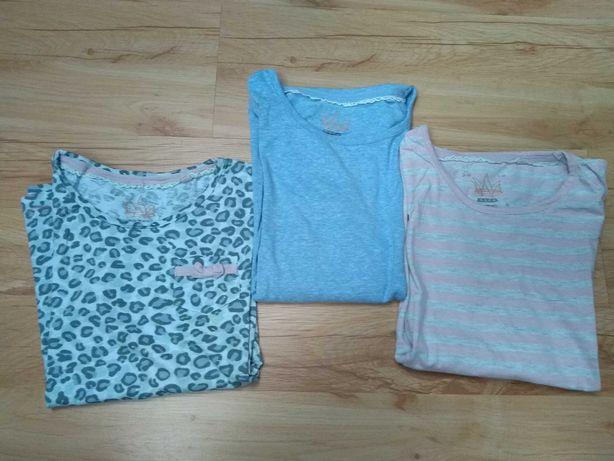 Rozm 140 Next dziewczynka 3 pak bluza długi rękaw. Bdb