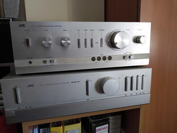 Amplificadores JVC A-S5 e A-X5
