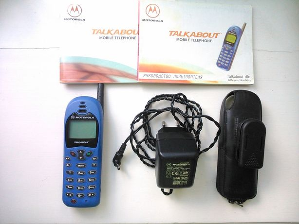 Motorola T-180 Talkabout рабочий, раритет 2001 года, чехол. Коробка