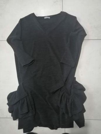 Sukienka sweterkowa czarna