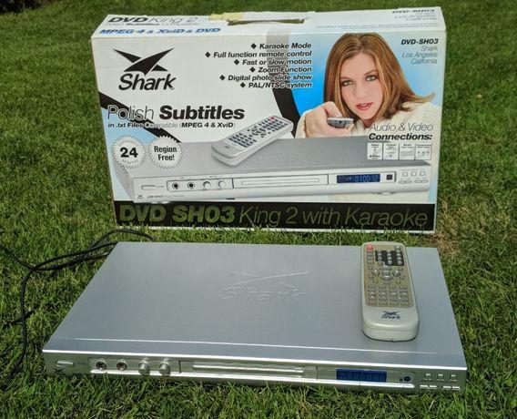Odtwarzacz DVD MANTA SHARK KING 2 SH03, karaoke, DivX, TXT