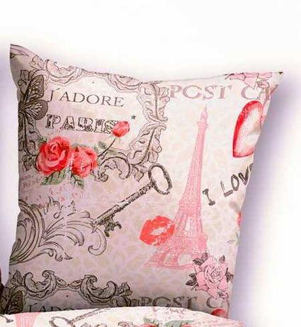 """Наволочка для подушки """" Париж """"."""