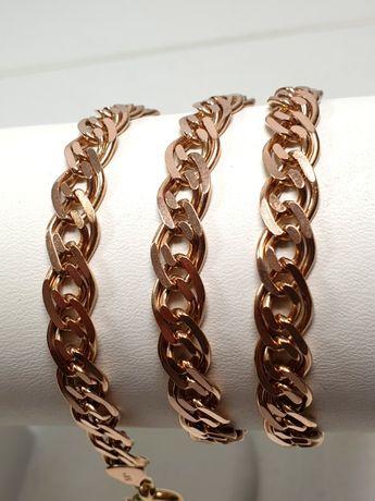 Złoty Łańcuszek 44.38G PR.585 14K 57CM Różowe złoto