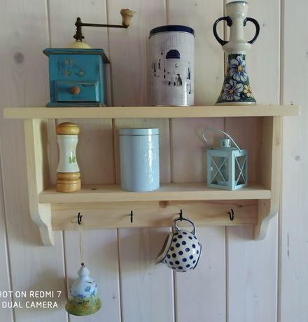 Półka drewniana ludowa kuchnia, łazienka różne kolory i wymiary