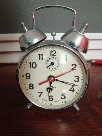 Zegar z budzikiem niemieckiej marki adler